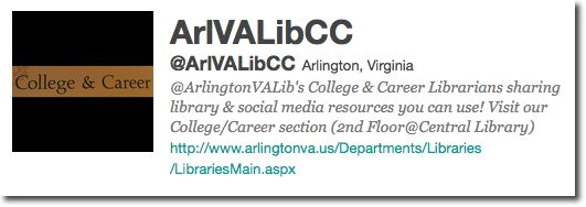 Screenshot of @ArlVaLibCC bio